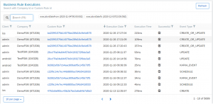 Execution Count Table SAP FSM Release 2102 Notion Edge