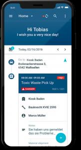SAP FSM on mobile device Notion Edge